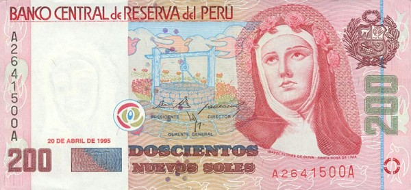 200 Nuevo Soles Peru Banknote