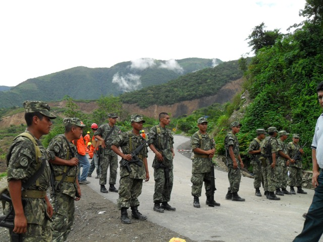 north peru earthquake military roadblock bagua
