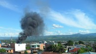It's been a hot, hot day here in Tarapoto. Two blocks down from the main square, things just got a lot hotter… Black smoke billowing up from a city center...