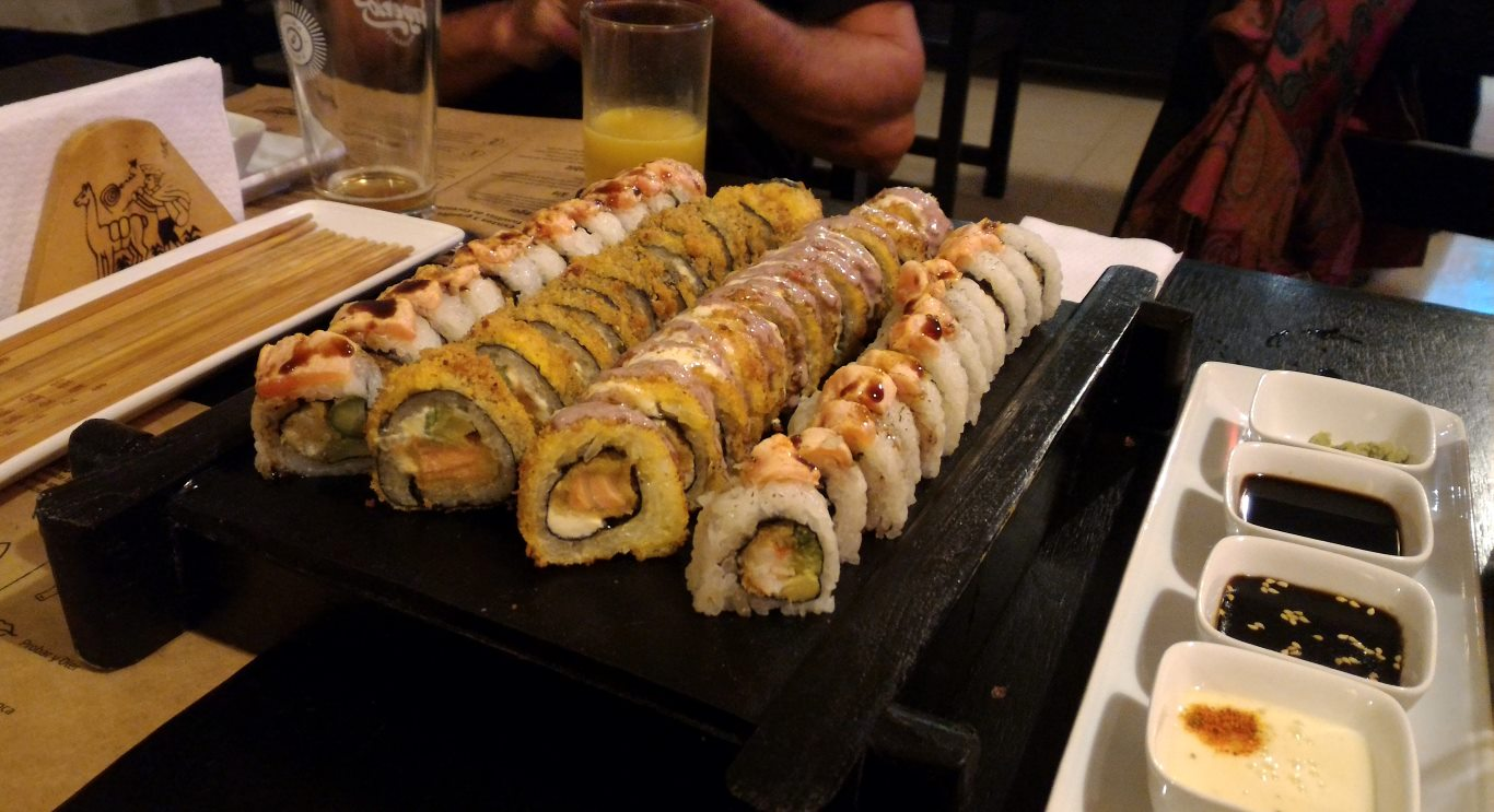 Makis at Kiru Sushi, Tarapoto