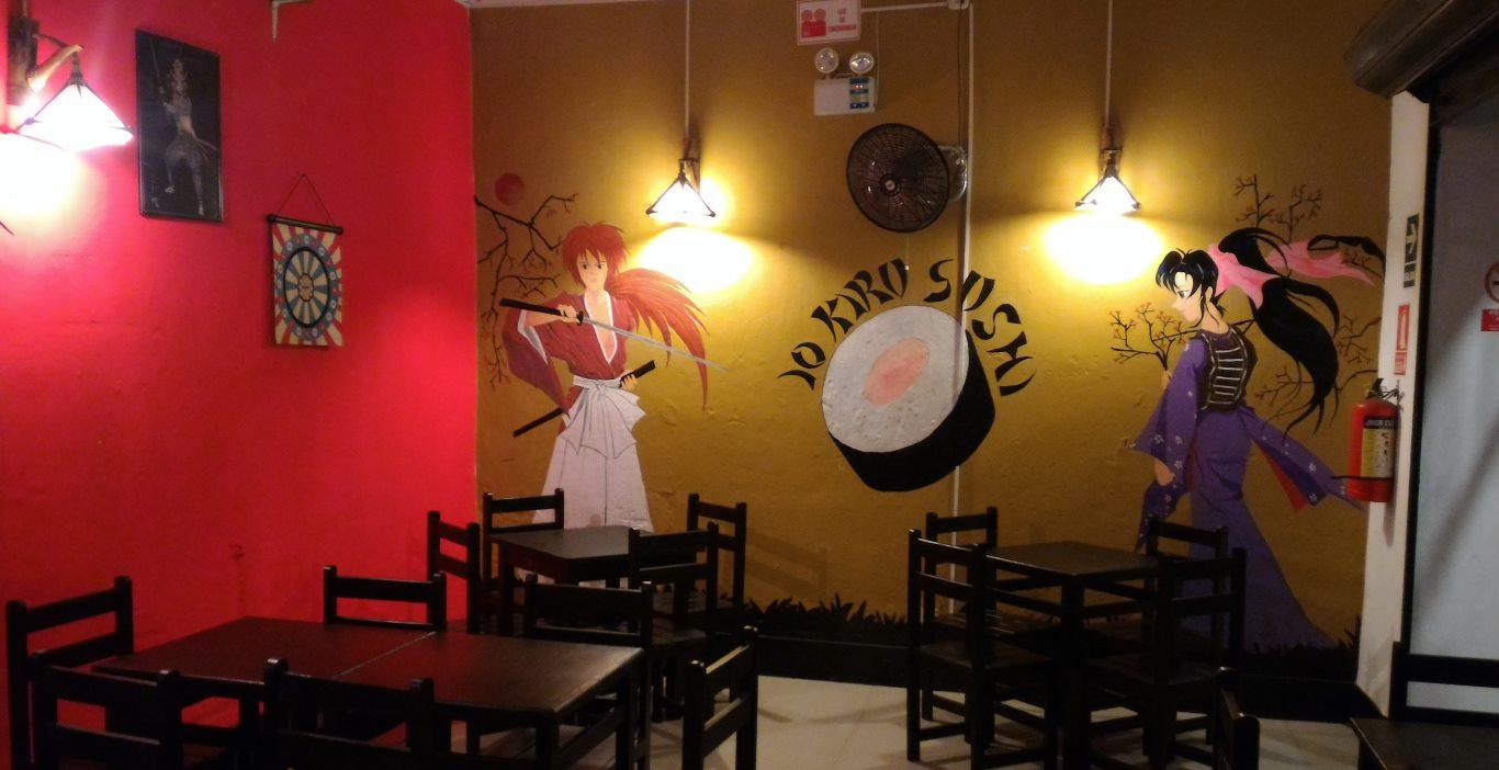 Inside Kiru Sushi in Tarapoto, Peru