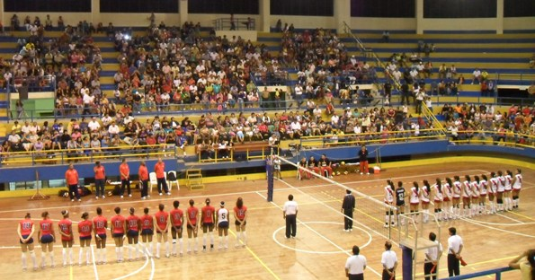 Peru's Youth Volleyball Team in the Coliseo Cerrado